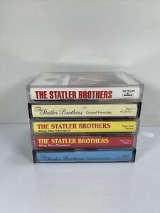 The Statler Brothers Lot of 5 Cassette Tapes Vintage Country Music Gospel Music