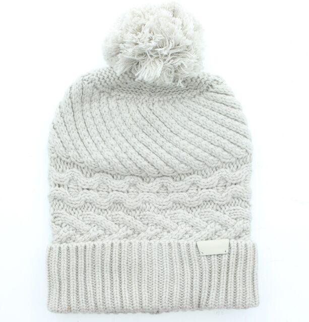 6716752d1c4 Coach 84069 Women s Cashmere Legacy Aran Cable Knit Hat Beanie Cap Pom Pom  Gray