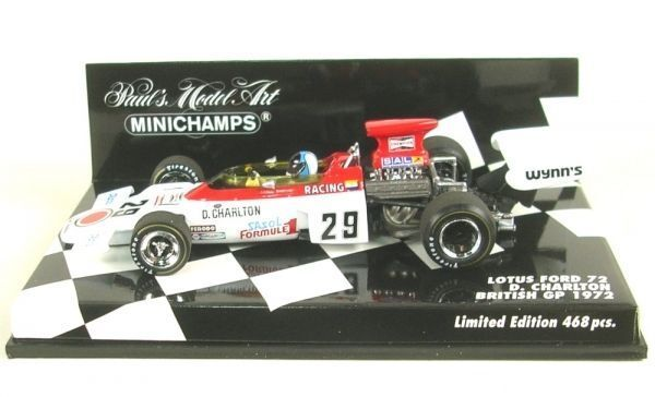 Minichamps F1 1 43rd scale Lotus 72 - D. Charlton British Grand Prix 1972 Ltd Ed