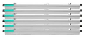 """AdirOffice 36"""" Aluminum File Hanging Clamps  for Blueprints 6-Pack"""