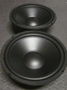 2-10-034-Speaker-Woofers-Ten-Inch-Subwoofer-Replacement-Pair-8-Ohm-Bass-Drivers