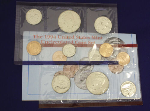 MINT 1994 UNCIRCULATED Genuine U.S MINT SETS ISSUED BY U.S