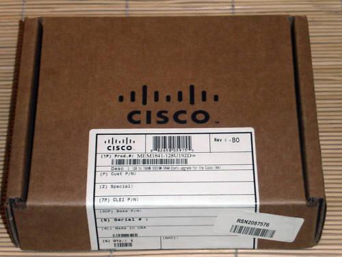 Cisco MEM1841-128U192D RAM f Cisco 1841 Router eq. MEM1841-128D NEU OVP
