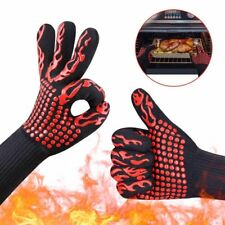 932°F Silicone Extreme Heat Resistant Proof Cooking Oven Mitt BBQ Grilling Glove
