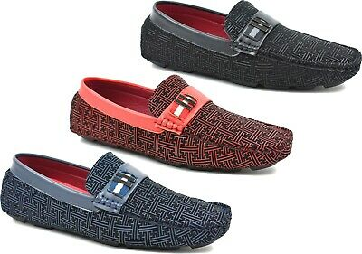 Men Casual/formal Stitched Grip Sole Slip On Party Dressy Shoes Uk Size 6-12