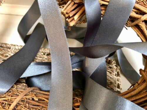 Berisfords Shade 669 Smoked Grey Double Satin Ribbon 3//7//10//15//25//35//50mm Widths
