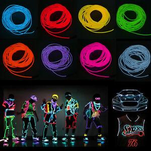 5M Flexible Neon LED Light EL Wire Strip Rope Light For #0: s l300