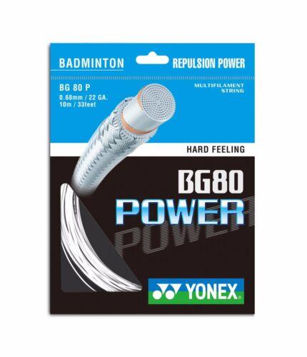 5 x PACKETS YONEX BG80 POWER BADMINTON RACKET STRING 100/% GENUINE