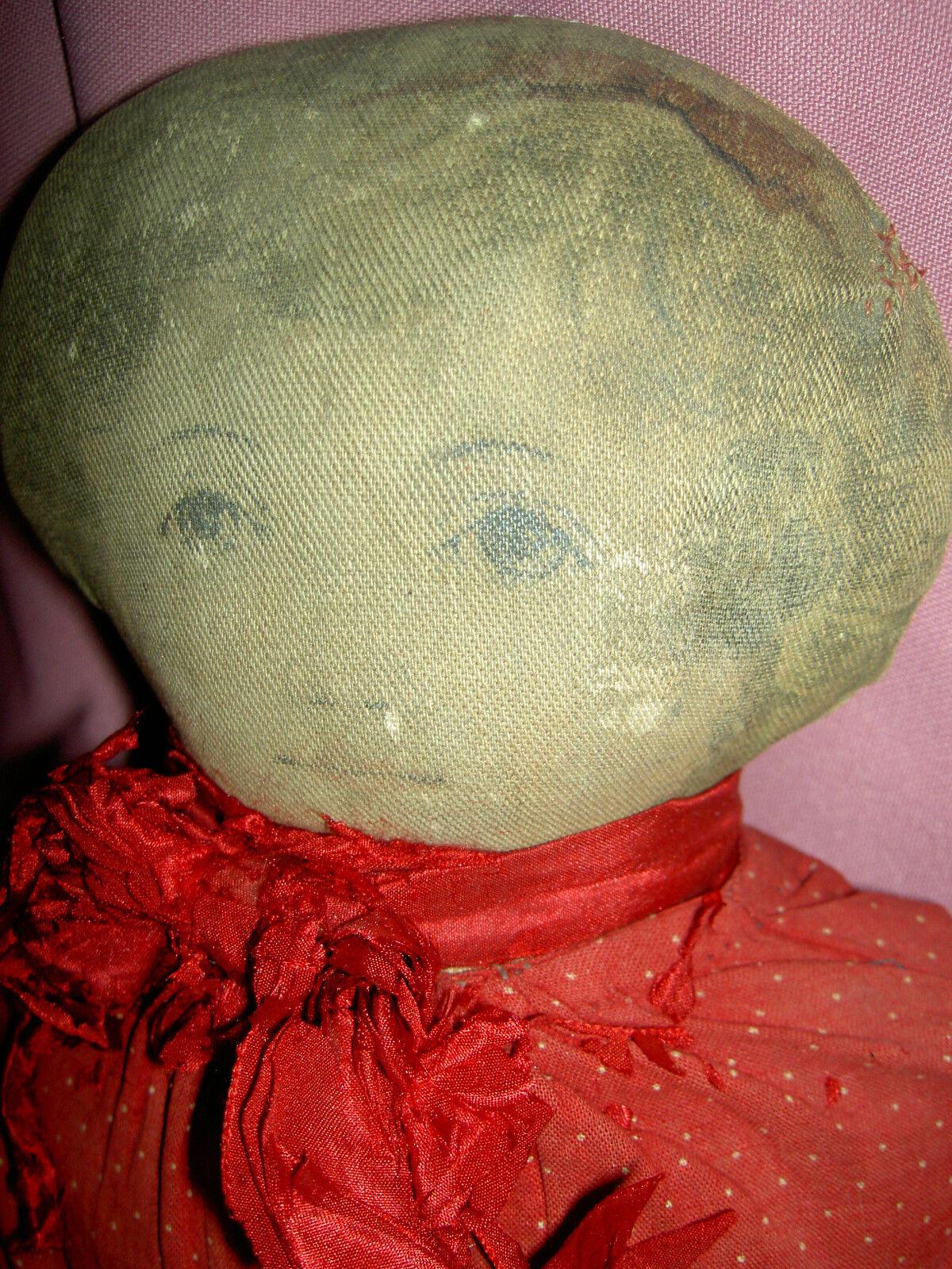 Antiguo dulce, Molinos De Tela De Arte (con la etiqueta  Pat. 1900 de febrero) Muñeco De Paño primitivo 17