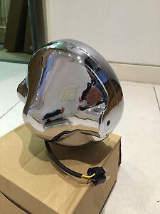 Cafe-Racer-Motorbike-Headlight-Assembly-Casing-for-All-7-034-LED-Headlamp-Chrome-UK