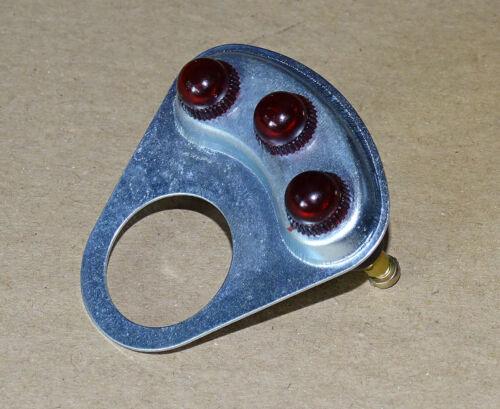 Halteblech mit 3 Kontrollleuchten für Traktor Blinkerschalter Blinkanlage