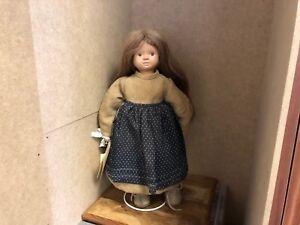 Top Zustand Ingrid Bender Porzellan Puppe 43 Cm Art Dolls-ooak Dolls