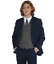 Boys-Suits-Boys-Check-costumes-Page-Garcon-Mariage-Prom-Party-Costume-Garcons-Bleu-Marine-Costume-TR miniature 1