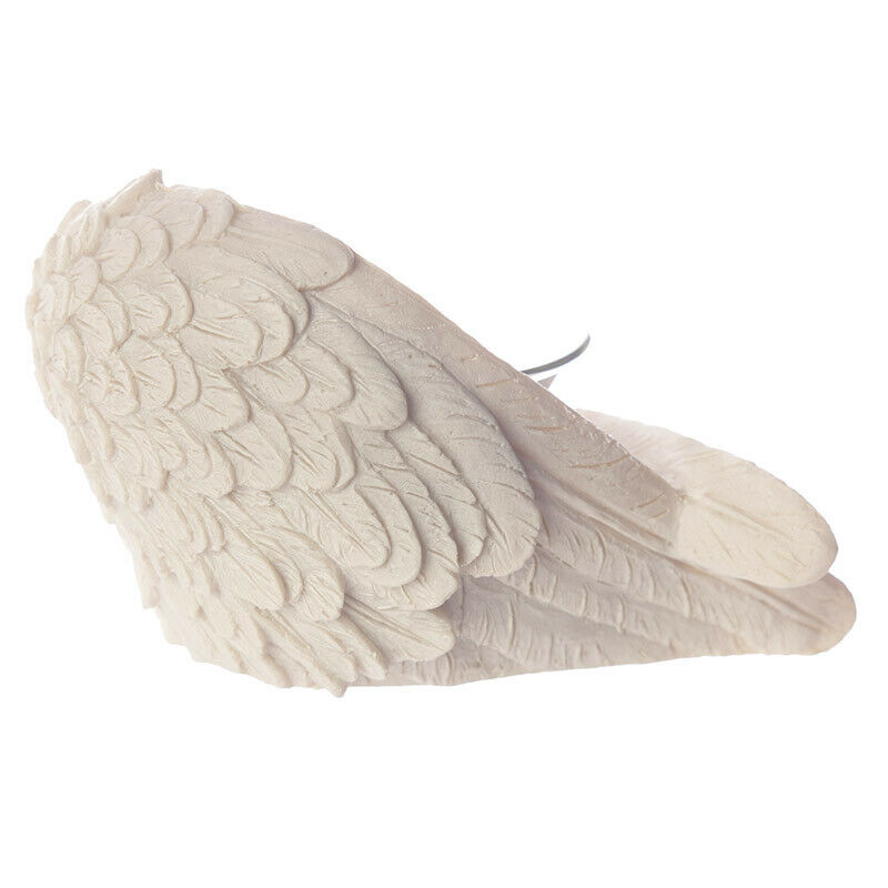 NEW WHITE ANGEL WING VOTIVE TEA LIGHT CANDLE HOLDER ANG98 A NR