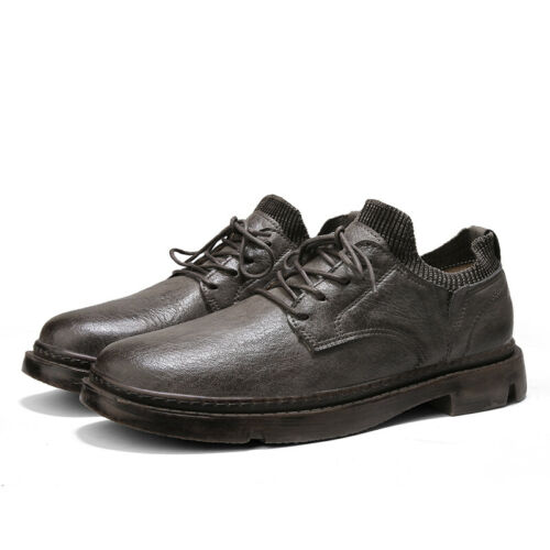 Details about  /Mens Low Top Leisure Faux Leather Shoes Business Work Oxfords Lace up Walking L