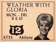 1970 KTXS TV AD~GLORIA BAUM is the BLONDE WEATHERGIRL in ABILENE,TEXAS~WEATHER