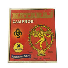 Pure Camphor Tablets -80 per box-(20 x packets of 4) Pooja Meditation Prayer