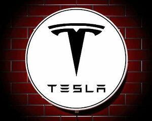 Tesla led 600mm allum garage applique murale badge - Appliques murales interieures ...