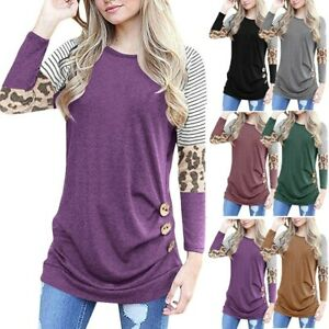 Women-039-s-Casual-Blouse-Shirt-Tops-Long-Sleeve-Loose-Jumper-Pullover-Tunic-T-Shirt