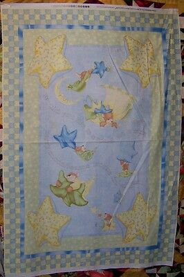 Bears Moonbeams in a Jar Cotton Fabric South Sea Imports Panel 29 x 44 inches