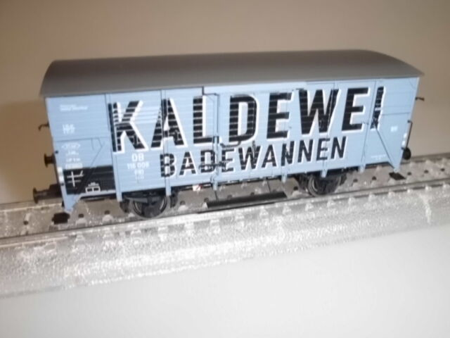 48285  Brawa  ged. Güterwagen  Kaldewei    DB  EP III  Neu  | Glücklicher Startpunkt  86ca91