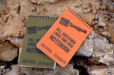 FREE UK POSTAGE!! Snugpak All Weather Grid Notebook Waterproof Paper Pad KAYAK