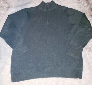 Eddie-Bauer-Sweater-Green-Xl-Mens-1-4-Zip