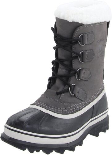 Sorel Women/'s Waterproof Leather and Suede Shale//Stone Caribou Winter Boots NIB