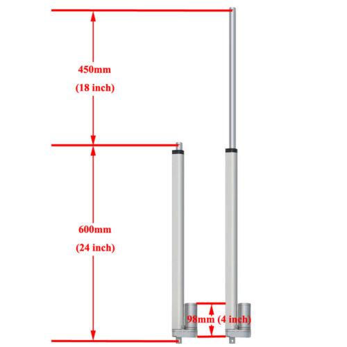 """50-450mm Stroke 2/""""-18/"""" Linear Actuator Auto Lift Heavy Duty 12V Motor W// Bracket"""