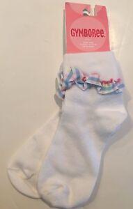 c16c8edbc NWT Gymboree Girls White Ruffled Socks Sz 5-7 Years Shoe Sz 11-13