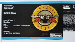 Guns n´ Roses 08.07.2022 München - Front of Stage FOS 1 - neuer Termin !