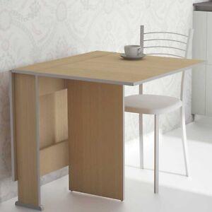 Mesa extensible abatible de cocina color haya 3 posiciones 80x135cm ...