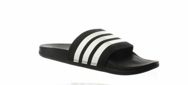 adidas Adilette Comfort Slide Sandal for Women, Size 8US - Core Black/Cloud  White