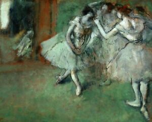 A-Group-Of-Dancers-Edgar-Degas-Wall-Art-Print-on-Cotton-CANVAS-Giclee-Small-8x10