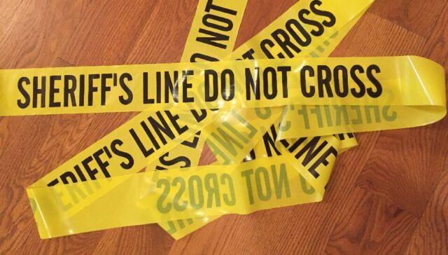 police line do not cross tape 100 feet 3 wide crime scene csi fbi