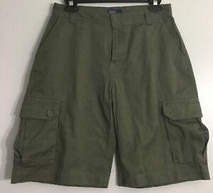 Polo-Ralph-Lauren-Boys-Classic-Chino-Cargo-Green-Khaki-Shorts-Sz-20-New