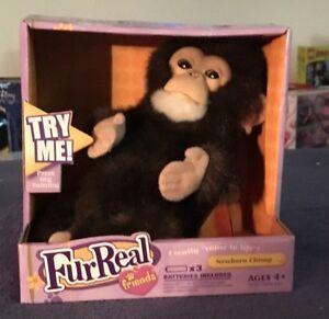 Furreal-Friends-2007-Newborn-Chimp-Fur-Interactive-Animal-Plush-Pet-Retired-NIB