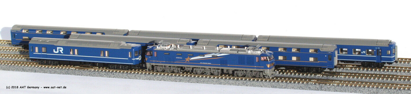 Kato Kato Kato Japan N 10822 - Personenzug-Set JR  Akebono  + Lok EF 510 502 439b83