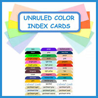 100 Color Index Cards With Rounded Corners Unruled Blank Cardstock Card Stock