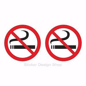 2x Aufkleber Rauchen verboten Nichtraucher 10cm Hinweisschild Rauchverbot ohne Text