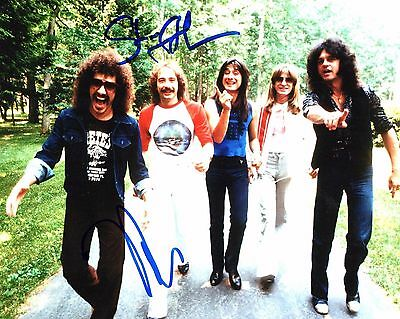 Gfa Neal Schon & Steve Smith Journey Signed 8x10 Photo Proof Ad5 Coa