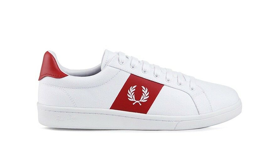 FRED PERRY NEW RED  STYLE SHOES  SFPU1813112 100