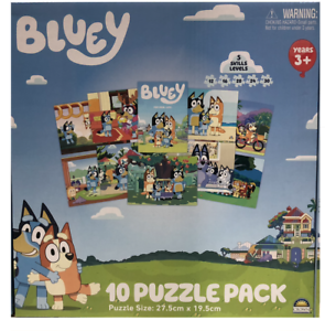 Bluey 10-IN-1 Pack Jigsaw Puzzles NEW