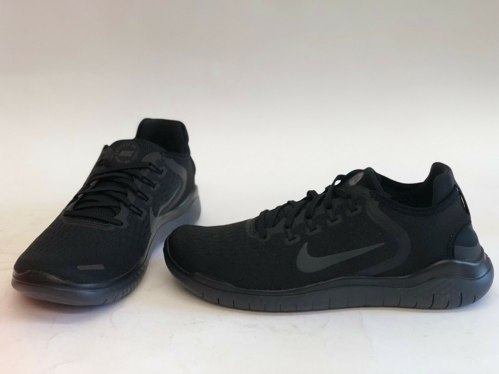 NIB MENS SIZE 8.5 NIKE FREE 2018 RUNNING SNEAKERS BLACK 942836-002