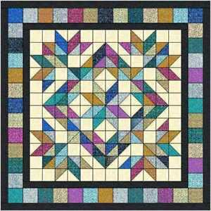 Quilt Kit Mystical Sky With Beautiful QT Fabrics