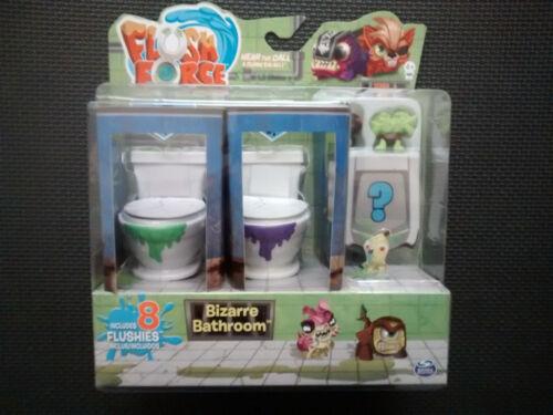 Chasse force Series 1 bizarre Set salle de bain avec 8 flushies /& 2 bouché les toilettes