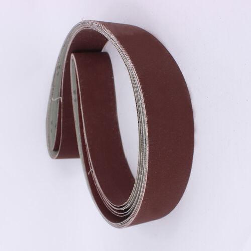 6pcs 2/'/'x 72/'/' Sanding Belt 180//240//320//400//600//800 Grit For Sander Grinding Set
