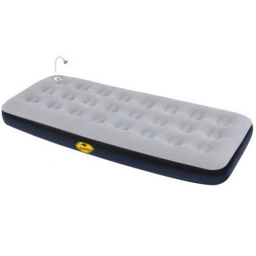 Roadsign single cama hinchable colchón de aire con lámpara LED, despertador & Radio   wow top