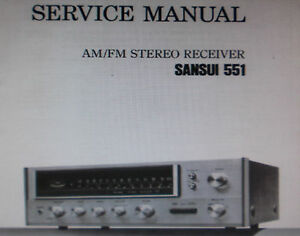 sansui 551 stereo receiver service manual inc schematic printed rh ebay ie