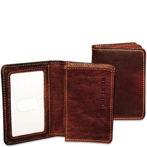 Jack Georges Voyager Business Card Holder in Black 7306 BLK